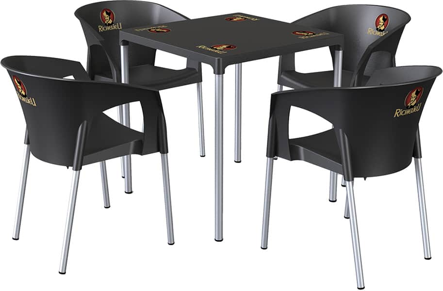 aro table and chairs kit branding adapt marketing